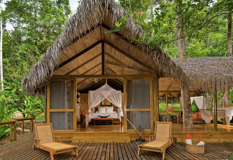 Tropische ecoluxe tussen de boomtoppen Ultiem genieten aan de Rio Pacuare Kriski Plus