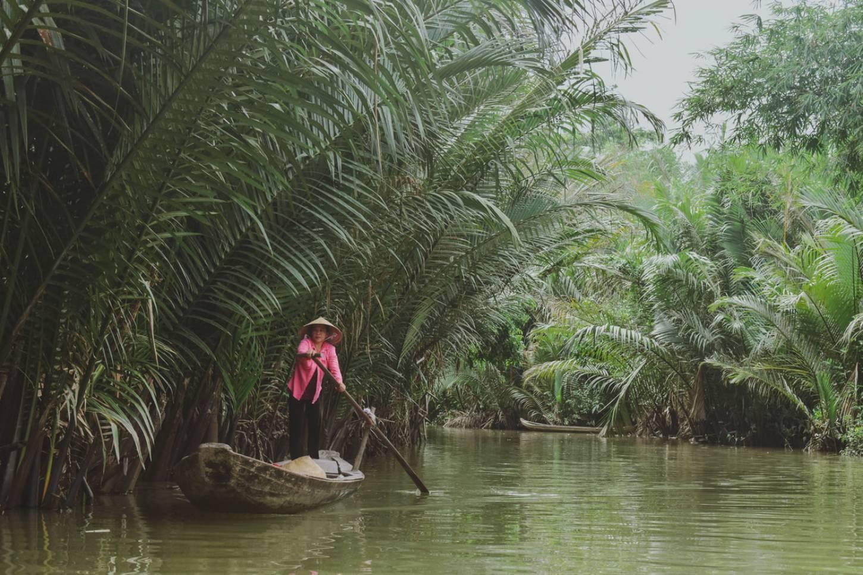 Drijvende markten in de Mekongdelta Met de sampan door de waterwegendoolhof Kriski Plus