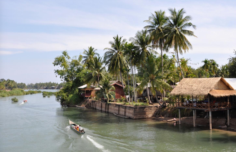 Fiets in één dag over 4000 eilanden Ontspannen Si Phan Don verkennen Kriski Plus