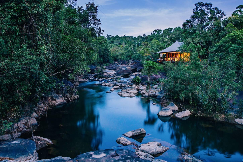 Glamping in de Cambodjaanse jungle Op safari door de jungle in ware Jackie Onassis stijl Kriski Plus