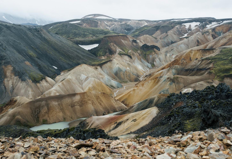 Het kleurenpallet van Landmannalaugar Kriski Plus
