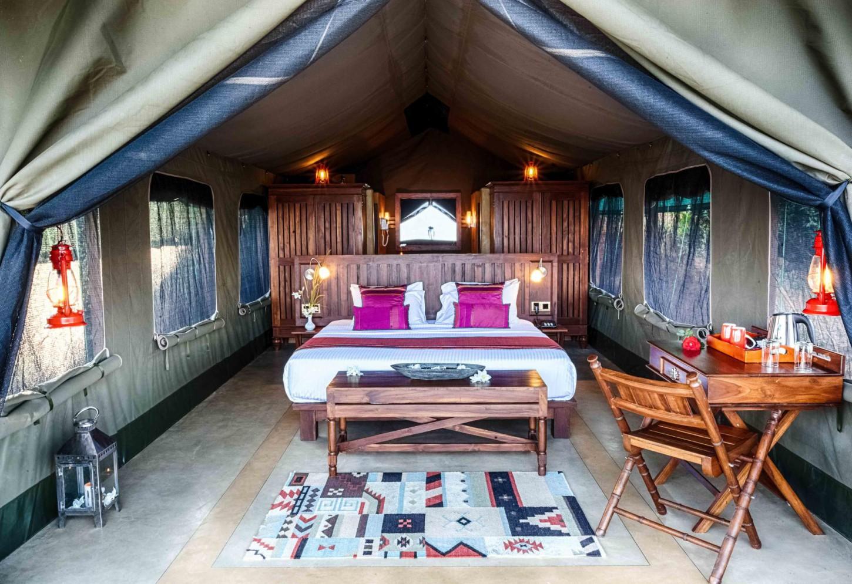 Glamping in een luxe safaritent tussen de plantages Kriski Plus