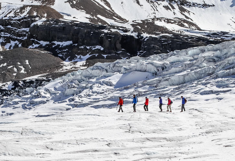 Gegidste wandeling op de Athabasca gletsjer Kriski Plus