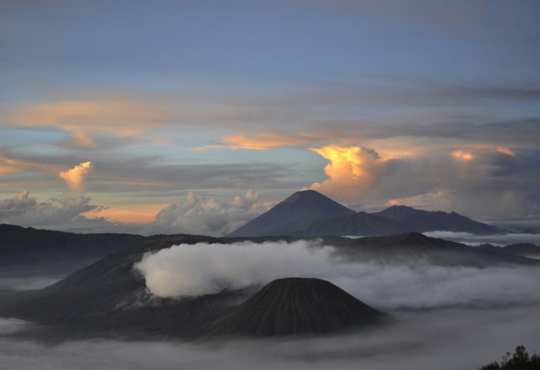 Tel de vulkanen op Java Kriski Plus