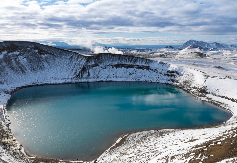 Het muggenmeer van Myvatn Vulkanen, grotten, lavavelden, heetwaterbronnen en kratermeren Kriski Plus