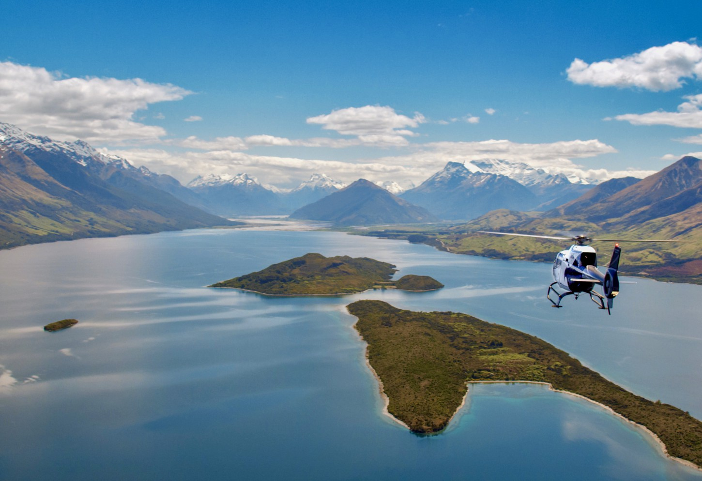 Helicoptervlucht over Mount Aspiring Kriski