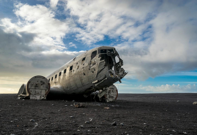Het vliegtuigwrak van Solheimasandur Kriski Plus