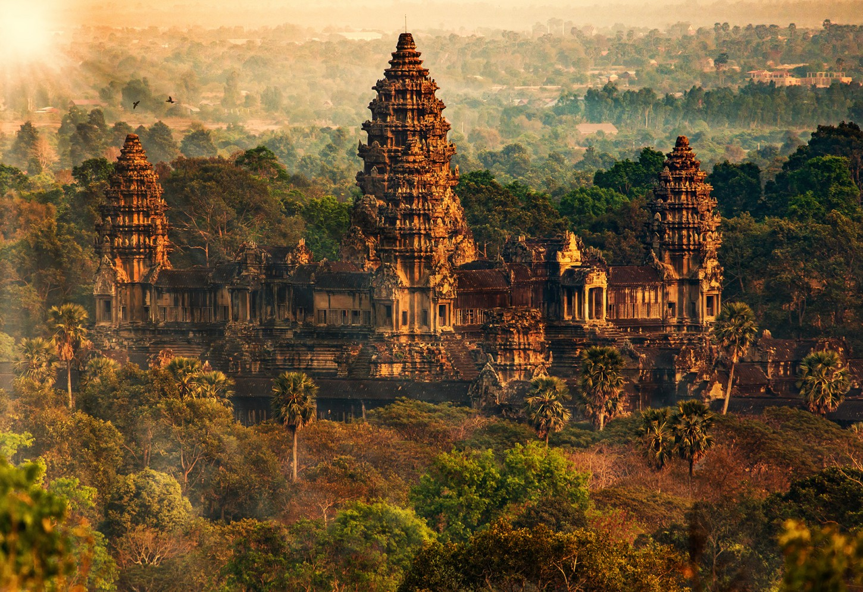 Mysterieuze tempels van het indrukwekkende Angkor Wat Kriski