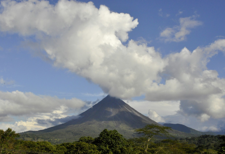 Ontwaak met zicht op Volcan Arenal Kriski