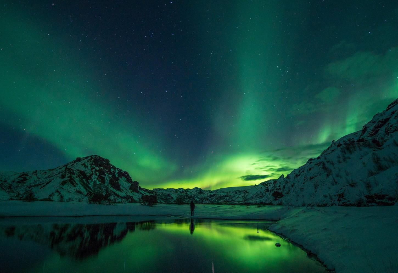 Het Noorderlicht achterna Winter wonderland met een unieke belichting Kriski